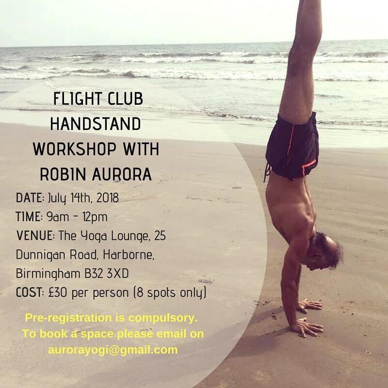 Fight Club Handstand Workshop With Robin Aurora