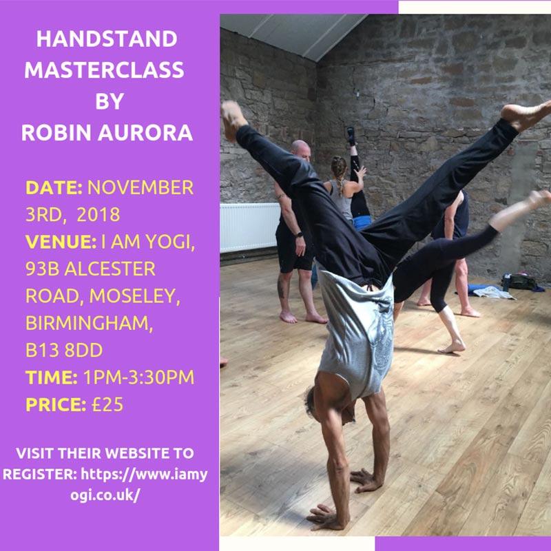 Handstand Masterclass By Robin Aurora